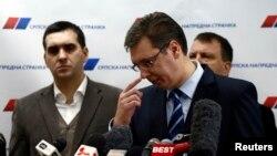Aleksandar Vučić na konferenciji za novinare, 4. februar 2013.