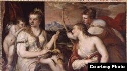 """Тициано Вечелио. Венера завязывает глаза Амуру. Около 1565. [Фото — <a href=""""http://www.museum.ru"""" target=_blank>«Музеи России»</a>]"""