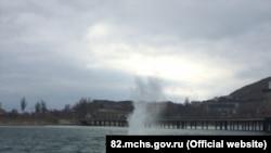 Взрыв бомбы под Феодосией, 12 февраля 2019 год