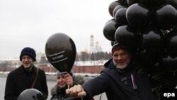 Акция памяти Сергея Магнитского в Москве в день 6-й годовщины его смерти – 16 ноября 2015 года