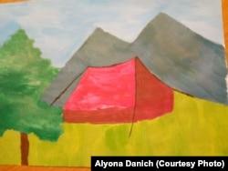 Як і інші діти, Кирило Даніч має мрії. На цьому малюнку він зобразив одну із них – вирушити у похід із приходом гарної погоди