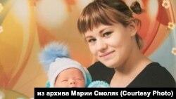 Мария Смоляк с сыном