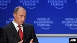 """There is now a temptation to expand the state's direct involvement in the economy as much as possible,"" Russian Prime Minister Vladimir Putin told those gathered in Davos."