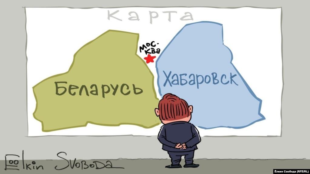 Карикатура російського художника Сергія Йолкіна.НА ЦЮ Ж ТЕМУ