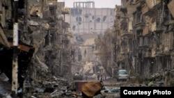 Разрушенный войной сирийский город Дайр-эз-Заур