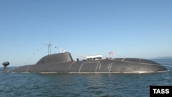 "A Project 971 ""Schuka-B"" (Akula), nuclear submarine similar to the ""Nerpa"""