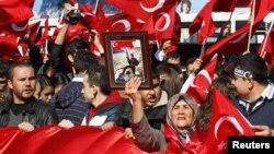 Թուրքիա - Ազգայնականների ցույցը մայրաքաղաք Անկարայում, 20-ը հոկտեմբերի, 2011թ.