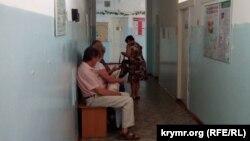 На приеме в поликлинике №1 городской больницы № 3 в Севастополе, август 2018 года