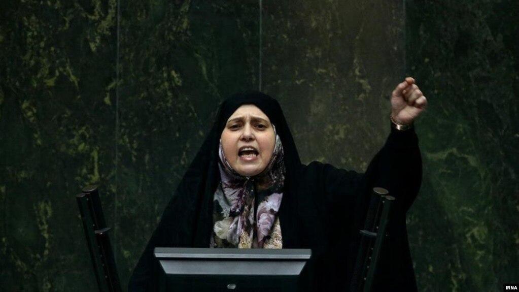 Parvaneh Salahshouri speaking in the Iranian parliament. December 9, 2019