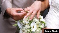Свадьба. Иллюстрационное фото