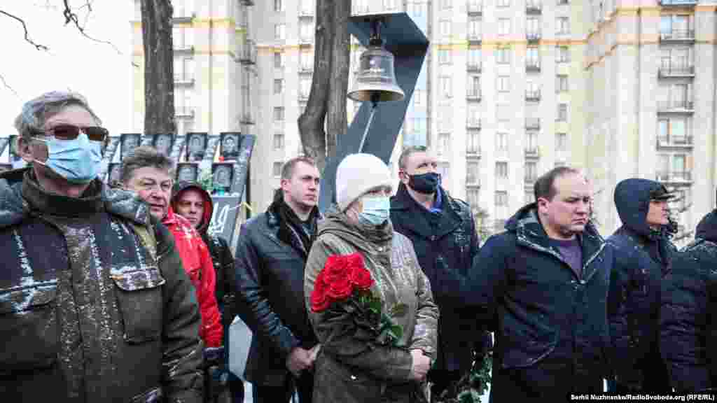 About 100 people, including families of the victims and participants in the events of 2014, came to mark the anniversary on February 18. Memorial events continue for three days.