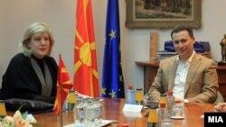 Средба на премиерот Никола Груевски со претставничката за медиуми на ОБСЕ Дуња Мијатовиќ