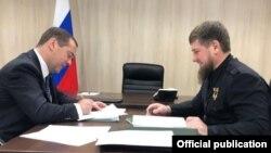 Бывший премьер-министр России Дмитрий Медведев и глава Чечни Рамзан Кадыров, 23 ноября 2019 г.