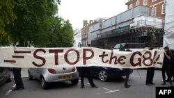 Протести у центрі Лондона проти саміту, 11 червня 2013