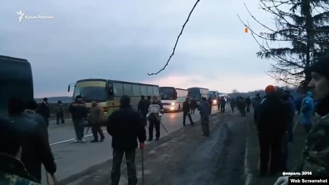 Архивные кадры реальных событий под Корсунь-Шевченковским, февраль 2014 года