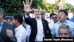 Lideri i opozitës, Juan Guaido pas kthimit në Venezuelë