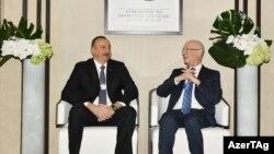 İlham Əliyev Dünya İqtisadi Forumunun icraçı sədri Klaus Schwab ilə görüşüb. Davos. 18yan2017
