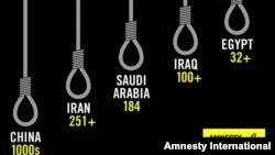 ایران بعد از چین بیشترین تعداد اعدام در سال ۲۰۱۹ را به خود اختصاص داده است.
