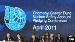 Міжнародная чарнобыльская канфэрэнцыя. Кіеў, 19 красавіка 2011 г.