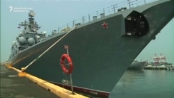 Russian Warship Docks In The Philippines