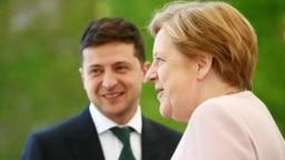 Zelenski cu Merkel astăzi la Berlin