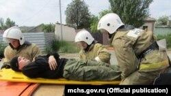 Учения крымских сотрудников МЧС России