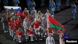 Паралімпійська збірна Білорусі на відкритті Паралімпіади в Ріо, 7 вересня 2016 року