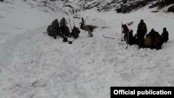 Поисково-спасательные работы в Джети-Огузском районе в Кыргызстане. 23 января 2018 года.