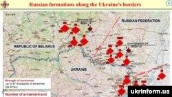 Російські війська поблизу українських кордонів та на непідконтрольних Україні територіях