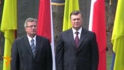 Янукович і Коморовський вшанували жертв тоталітаризму