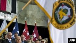 من مراسم تغيير القيادة الأميركية في العراق