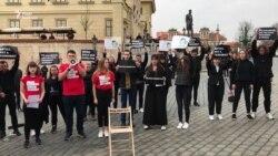 У Празі пройшла акція на підтримку Сенцова