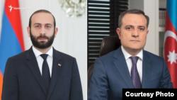Министры иностранных дел Армении и Азербайджана - Арарат Мирзоян (слева) и Джейхун Байрамов