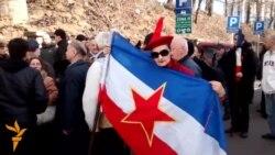 Protest protiv rehabilitacije Nedića
