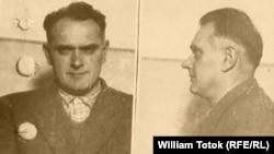 Francisc Augustin fotografiat în detenție în 1952
