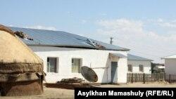 Жилой дом в одном из казахстанских аулов.