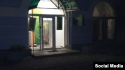 Взрыв в Киеве возле офиса Сбербанка на ул. Ахматовой