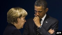 Канцлер Німеччини Ангела Меркель (Л) і президент США Барак Обама