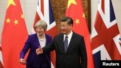 Theresa May i Xi Jinping