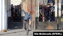 Протест египетских студентов. Каир, 27 декабря 2013 года.