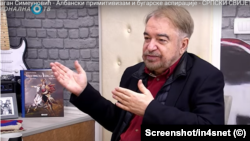 Драган Симеунович. Скрийншот от интервюто, което предизвика дипломатическо напрежение