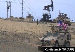 نیروهای آمریکایی اطراف میدان نفتی قامشلی، شمال شرق سوریه، اول نوامبر