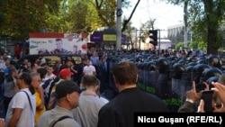 Кишинев қаласындағы полиция мен наразылар. Молдова, 27 тамыз 2016 жыл.