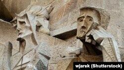Фрагмэнт фасаду сабору Саграда-Фамілья