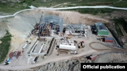 Armenia - Gold mining facilities constructed by Lydian International company at Amulsar deposit, 18 May 2018.