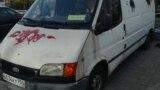 Belarus - minibus with Russian plates in Minsk