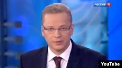 """""""Rossiýa 1"""" telekanalynyň agşamky gepleşiginden alnan şekil, 31-nji mart, 2014."""