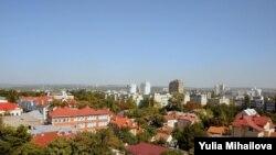 Pamje e një pjese të kryeqytetit Kishinev në Moldavi