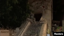 Разрушения во время землетрясения в Греции. 21 июля 2017 года.