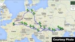 Traseul unei vacanțe europene...
